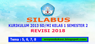 SILABUS KURIKULUM 2013 SD/MI KELAS I SEMESTER 2 REVISI 2018