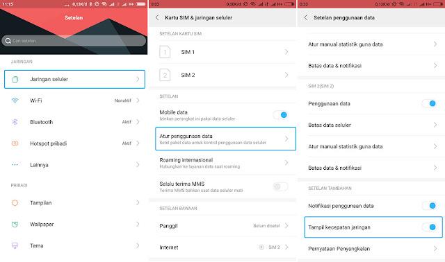 Cara Mudah Menampilkan Kecepatan Internet di Statusbar Pada Android