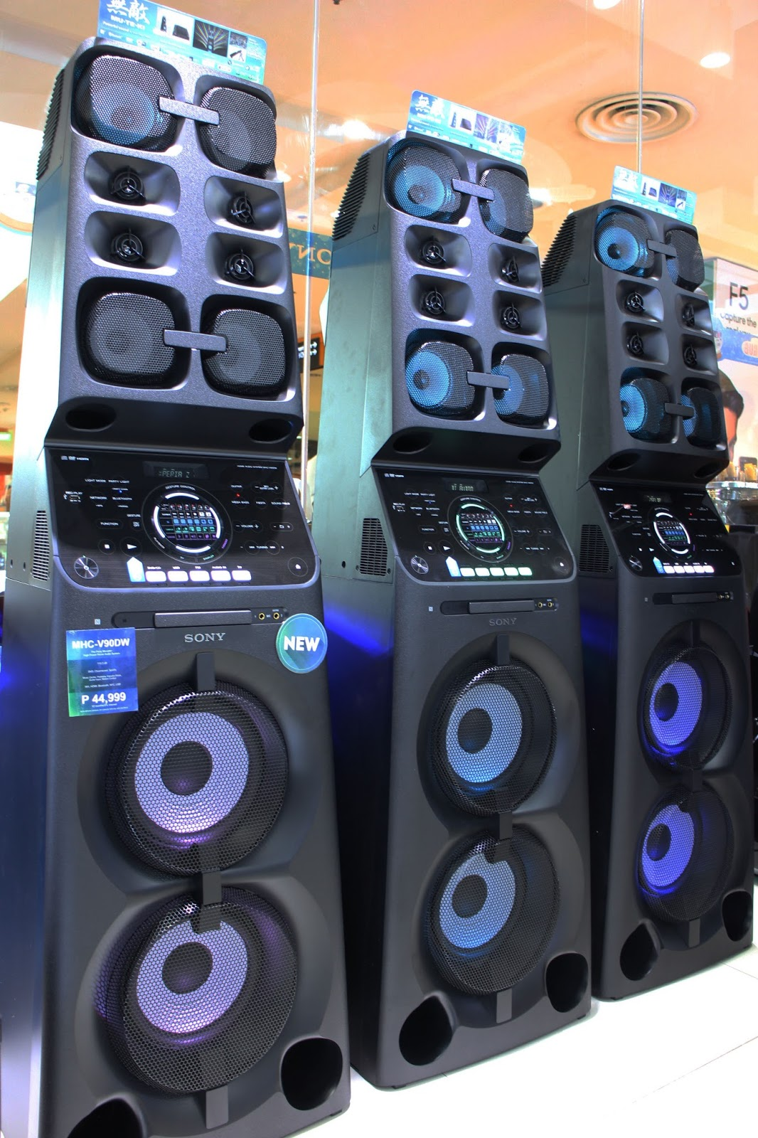 oc craft sony new high power audio system muteki mhc v90dw. Black Bedroom Furniture Sets. Home Design Ideas