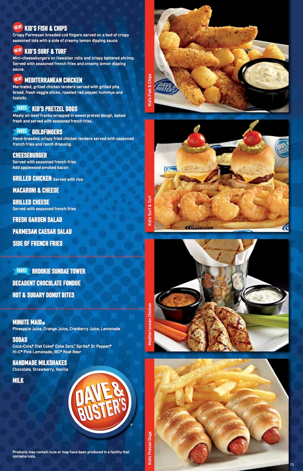 Dave And Busters Food Menu And Prices