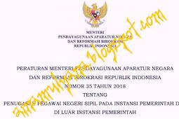 Permenpan RB No 35 [Tahun] 2018 (Tentang) PENUGASAN PNS Pada INSTANSI Pemerintah &  di LUAR INSTANSI PEMERINTAH