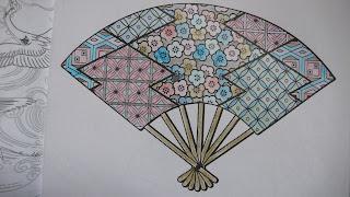 Mon coloriage d'éventail japonais