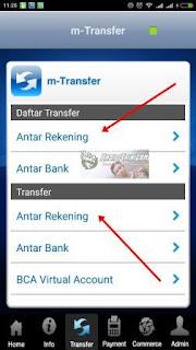 Cara kirim Uang dari BCA Mobile