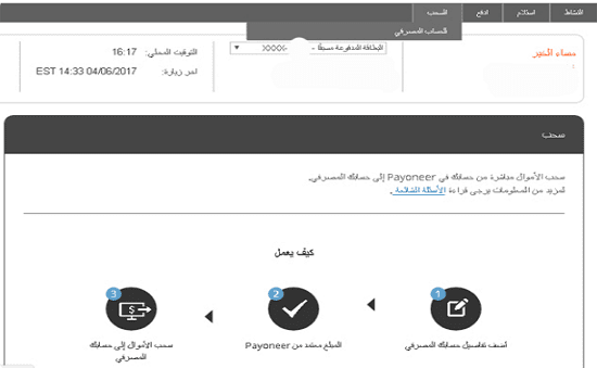 سحب, وتحويل, اموالك, من, بايونير, الى حسابك البنكي المحلي للوطن العربي