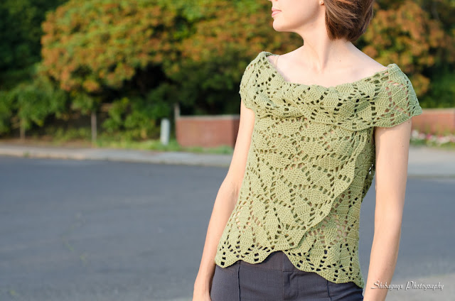 crochet geometry split circle cardi