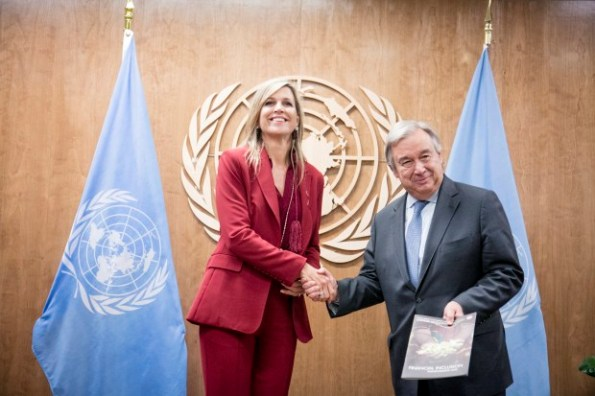Secretary-General Antonio Guterres with H.M. Queen Maxima