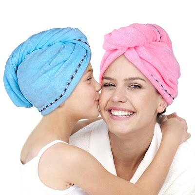 Microfiber Hair Towel Wrap 2 Pack