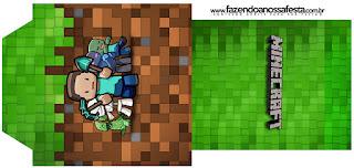 Etiqueta de Té Gratis para Fiesta de Minecraft.