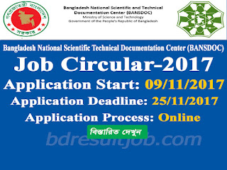 BANSDOC Job Circular  2017 has been Published