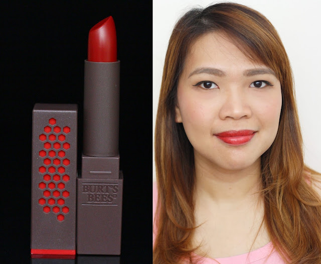 a photo of Burt's Bees 100% Natural Lipstick in Scarlett Soaked
