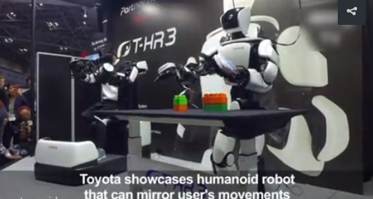 Toyota's humanoid robot that can mirror user' movemants