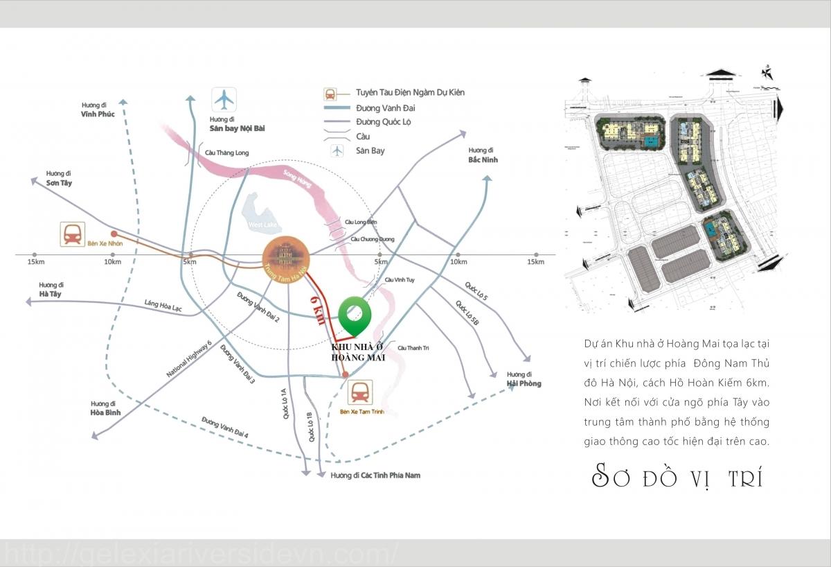 Vị trí dự án Gelexia Riverside 885 Tam Trinh