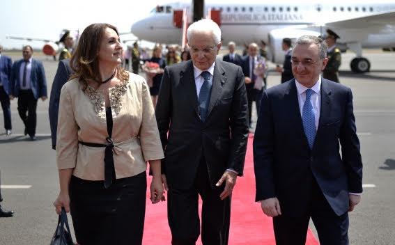 El presidente de Italia llegó a Armenia