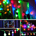 $3.56 (Reg. $11.89) + Free Ship Patio Colored String Lights, 14.8ft!