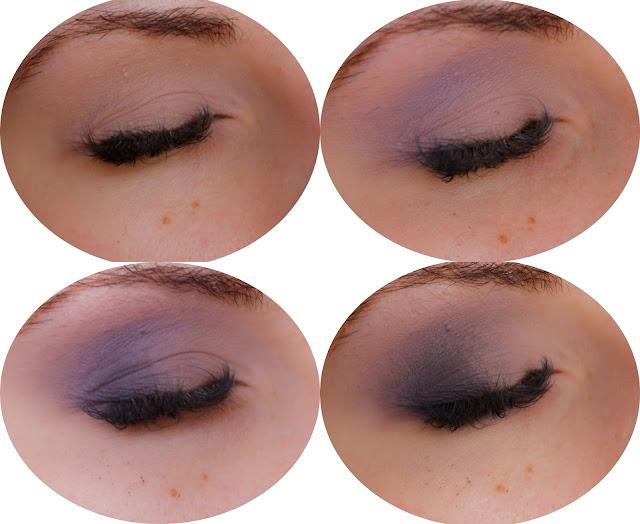 makijaż ślubny fioletowy