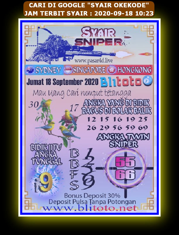 Kode syair Hongkong Sabtu 19 September 2020 79