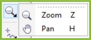 Zoom Flyout CorelDRAW X7