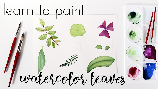 watercolor, watercolor instruction, watercolor painting classes, watercolor leaves, botanical watercolor, Skillshare, Anne Butera, My Giant Strawberry