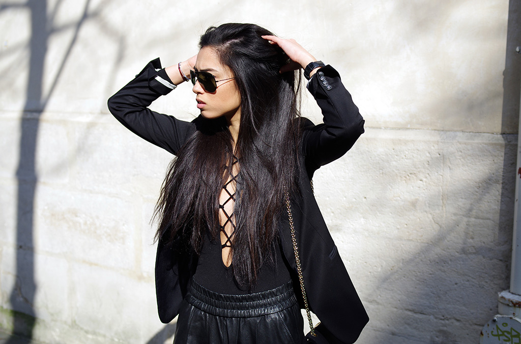 Elizabeth l All black everything outfit l THEDEETSONE l http://thedeetsone.blogspot.fr