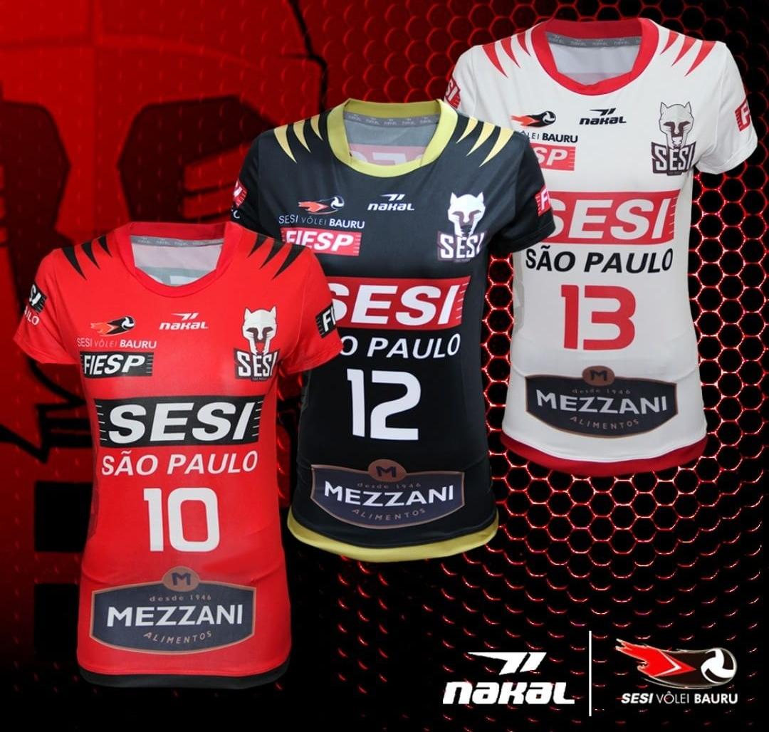 Nakal lança as novas camisas do Sesi Vôlei Bauru - Show de Camisas 320cd983b0f3e