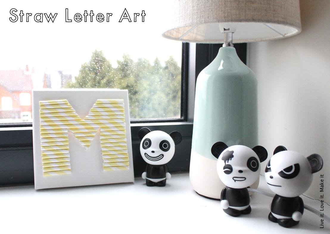 Mini Make it: Paper straw letter art
