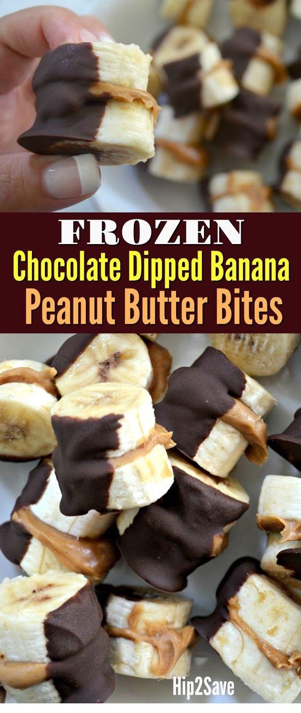 Dipped Peanut Butter Banana Bites