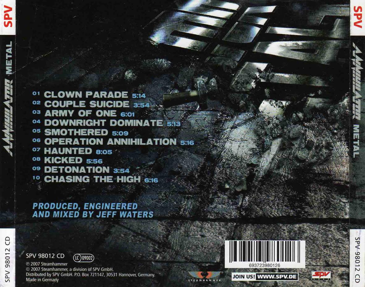Share Metal: Annihilator - Metal