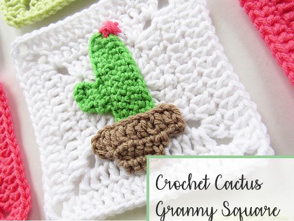 Crochet Cactus Granny Square - Free Pattern
