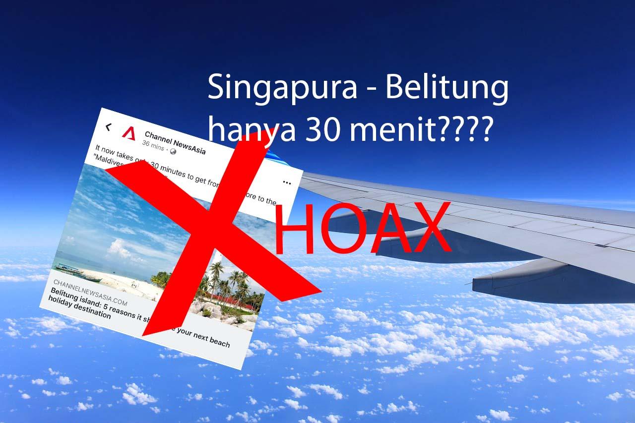 Hoax! Terbang dari Singapore ke Belitung dalam 30 mins doang? Pake Pintu Doraemon?