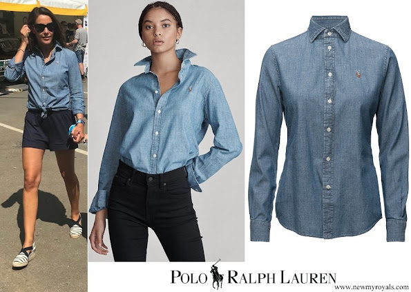 Princess Marie wore POLO RALPH LAUREN Slim Fit Chambray Shirt