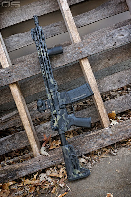 multicam black rattle can Rustoleum paint rifle carbine ar15