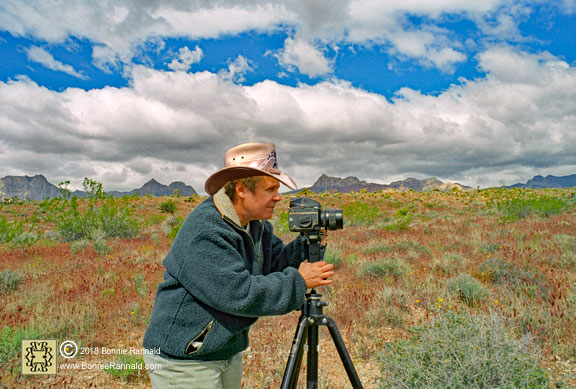 Bonnie Rannald Photographer at Red Rock Canyon, Nevada
