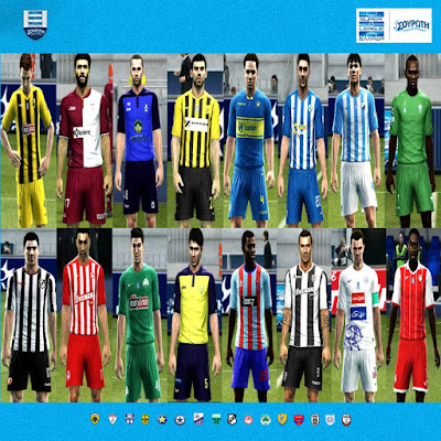 PES 2013 Superleague Greece Kitpack Season 2018/2019 by Auvergne81 Kitmaker
