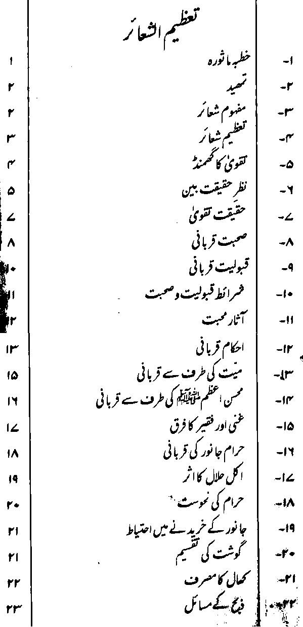 Qurbani Ke Masahil Urdu Book