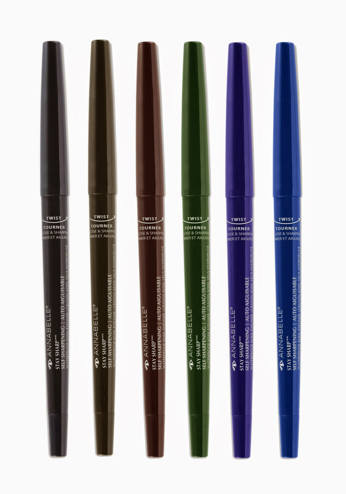 Annabelle Cosmetics Stay Sharp Waterproof Kohl Eyeliner in Go Black, Graphite, Cappuccino, Forest, Ultraviolet, Midnight