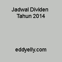 Jadwal Dividen Tahun 2014