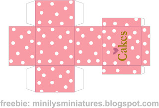 """minilys miniatures"" ""cakes"" ""printable box"" 1:12"