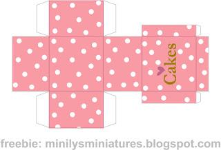 """""""minilys miniatures"""" """"cakes"""" """"printable box"""" 1:12"""