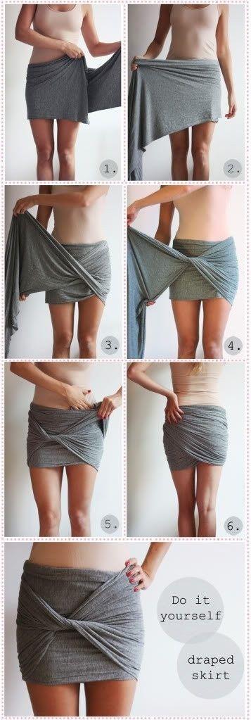 PROYECTO DIY para hacer falda con pedazo de tela