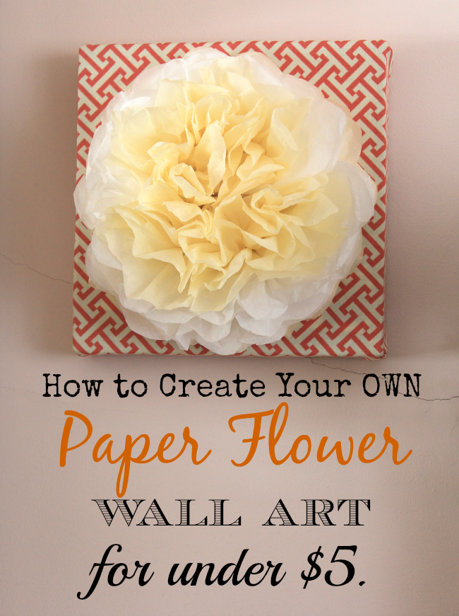 How to make an awesome picture for your home using tissue paper.