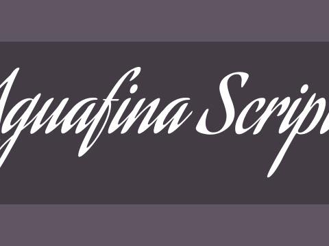 Aguafina Script Font Free Download
