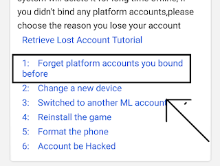 klik forget platform accounts you bound before