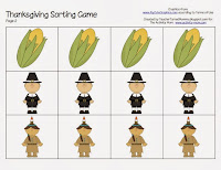 thanksgiving sorting printable