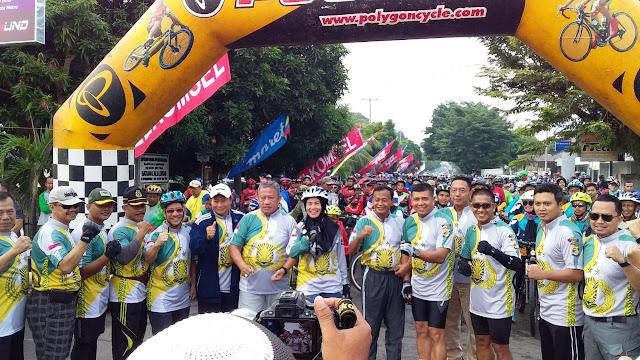 "Polres Metro Lampung ""Fun Bike"" Meriahkan HUT Bhayangkara ke 72"