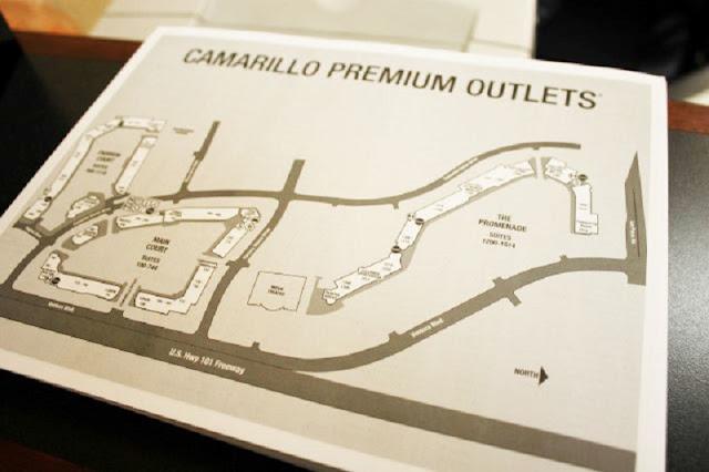 Mapa do Camarillo Premium Outlets em Los Angeles