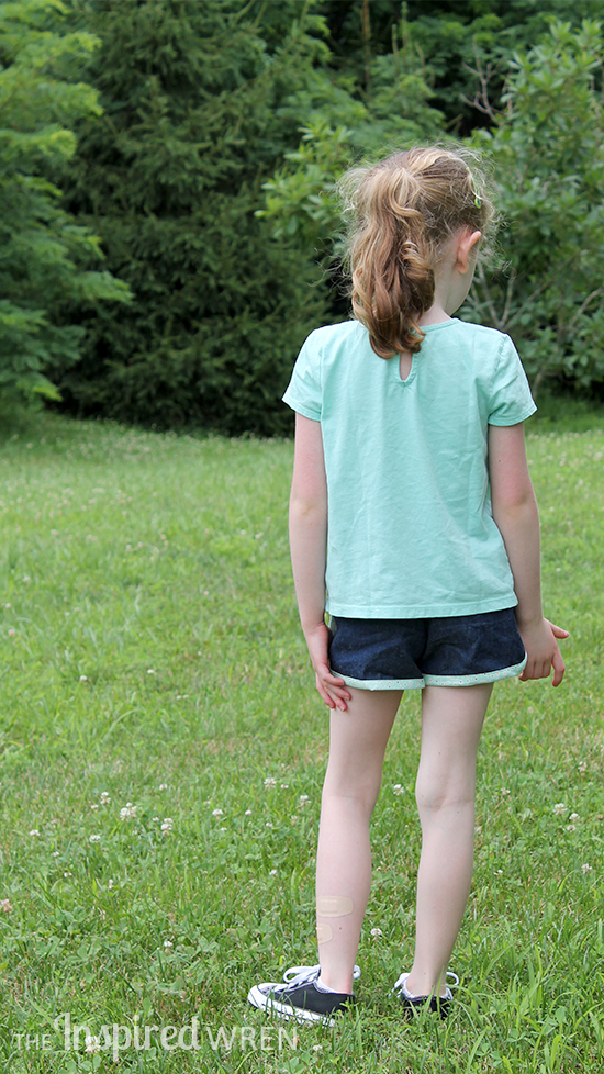 Love the free City Gym Shorts for All Ages sewing pattern from The Purl Bee! | The Inspired Wren
