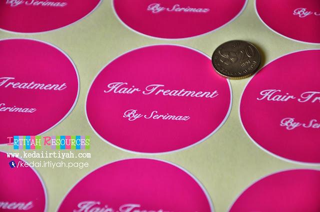 tempah sticker murah kahwin produk product perniagaan bisnes majlis bulat warna