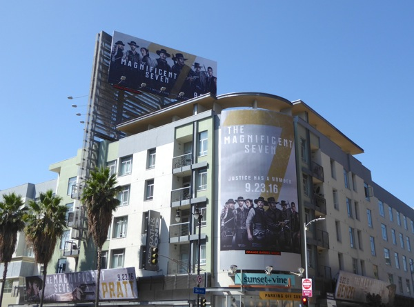 Magnificent Seven movie billboards