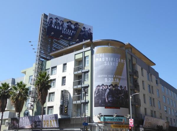 Magnificent Seven movie billboards