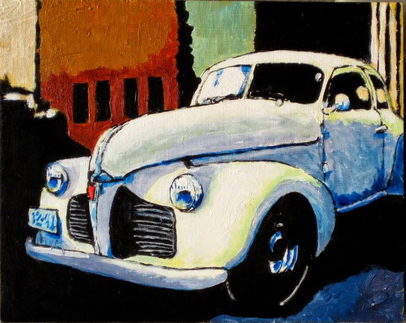 car paintings | bruce docker | classic cars
